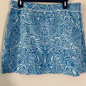 Patagonia Womens Blue Printed Wrap Skirt Sz 10 MBQ